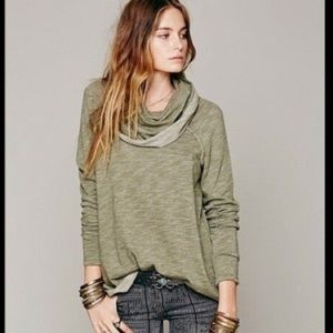 Free People Beach OS Cowl Neck Top!